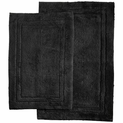 Thackeray 2 Piece Bath Rug Set Color: Black