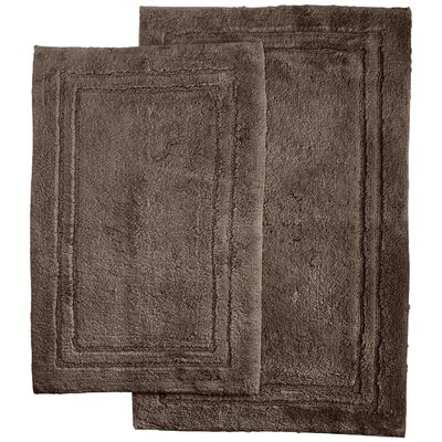 Thackeray 2 Piece Bath Rug Set Color: Charcoal
