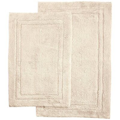 Thackeray 2 Piece Bath Rug Set Color: Cream