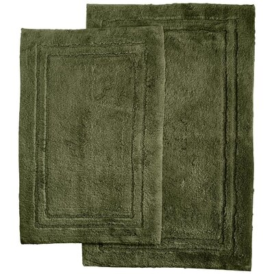 Thackeray 2 Piece Bath Rug Set Color: Forest Green