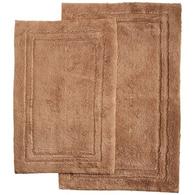 2 Piece Bath Rug Set Color: Latte