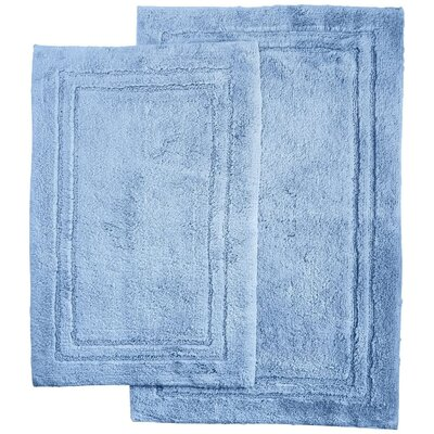 2 Piece Bath Rug Set Color: Light Blue