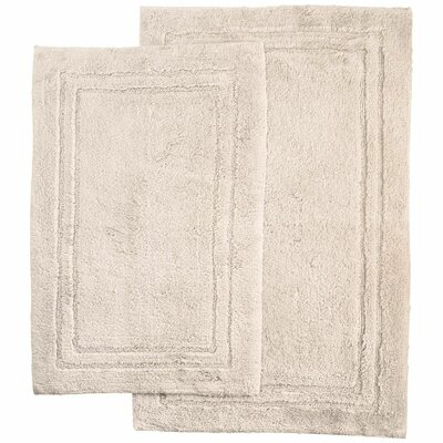 2 Piece Bath Rug Set Color: Stone