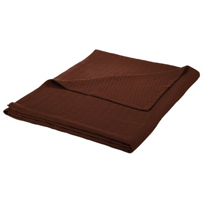 100% Cotton Blanket Size: King, Color: Chocolate