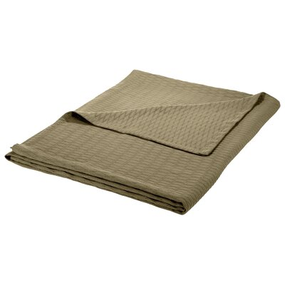 100% Cotton Blanket Size: King, Color: Grey