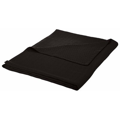 100% Cotton Blanket Size: Twin / Twin XL, Color: Black