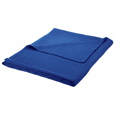 100% Cotton Blanket Size: Twin / Twin XL, Color: Merritt Blue