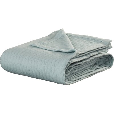 100% Cotton Blanket Size: Twin / Twin XL, Color: Aqua