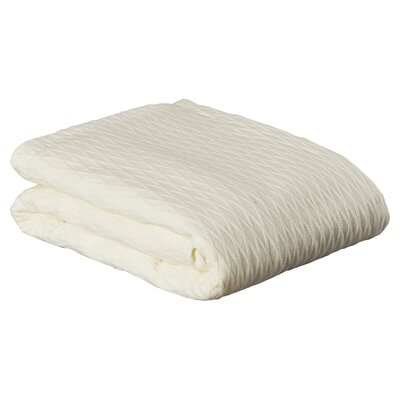 100% Cotton Blanket Size: King, Color: Ivory