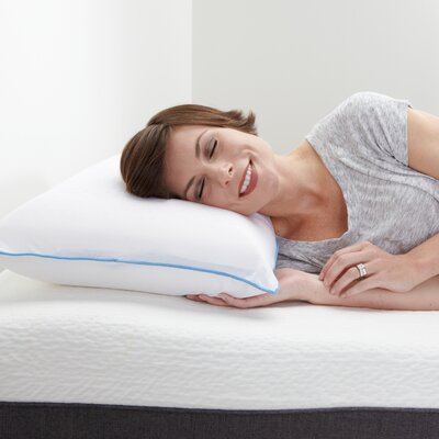 Cool Sleep Plush Latex Gel Fiber Pillow Size: Queen
