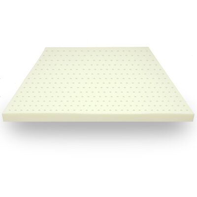 Ventilated Memory Foam Mattress Topper Size: King