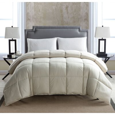 Down Alternative Comforter Color: Beige, Size: Twin