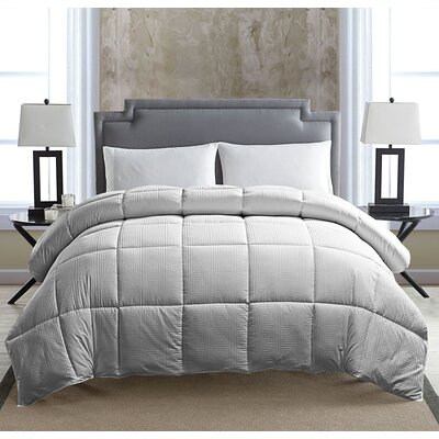 Down Alternative Comforter Color: Gray, Size: Twin