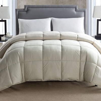 Down Alternative Comforter Color: Beige, Size: Queen