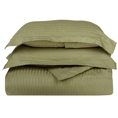 Stripe Duvet Cover Set Size: Twin, Color: Sage