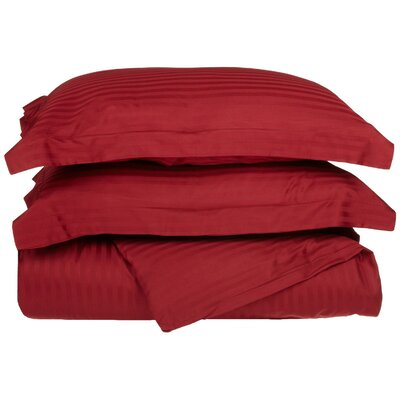 300 Thread Count Duvet Set Size: Twin, Color: Burgundy