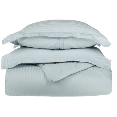 Stripe Duvet Cover Set Size: Full / Queen, Color: Light Blue