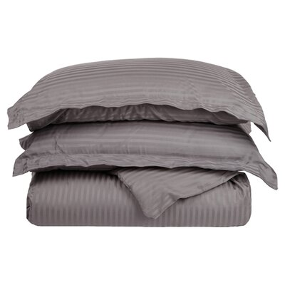 300 Thread Count Duvet Set Size: King / California King, Color: Gray