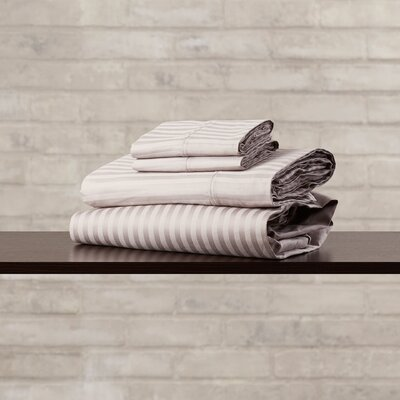 400 Thread Count Premium Long-Staple Combed Cotton Stripe Sheet Set