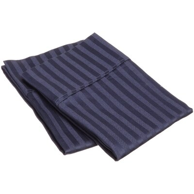 300 Thread Count Stripe Pillowcase Pair Size: Standard, Color: Navy Blue