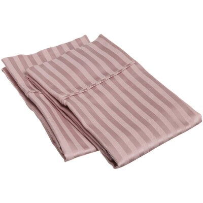 Holeman 300 Thread Count Stripe Pillowcase Pair Size: King, Color: Lavender