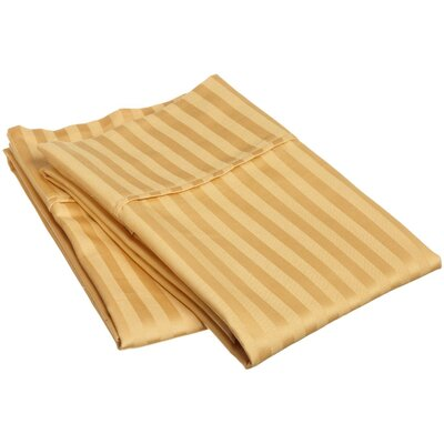 300 Thread Count Stripe Pillowcase Pair Size: King, Color: Gold