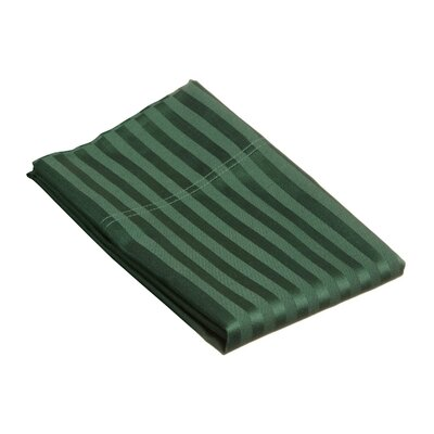 400 Thread Count Stripe Pillowcase Size: King, Color: Hunter Green