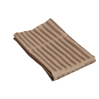 400 Thread Count Stripe Pillowcase Size: King, Color: Taupe
