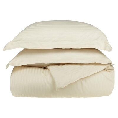 Stripe Duvet Cover Set Size: King / California King, Color: Ivory
