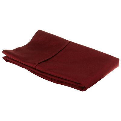 Holifield 530 Thread Count Cotton Solid Pillowcase Size: King, Color: Burgundy