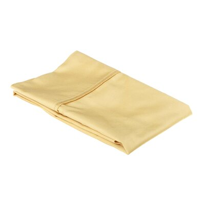 Holifield 530 Thread Count Cotton Solid Pillowcase Size: King, Color: Gold