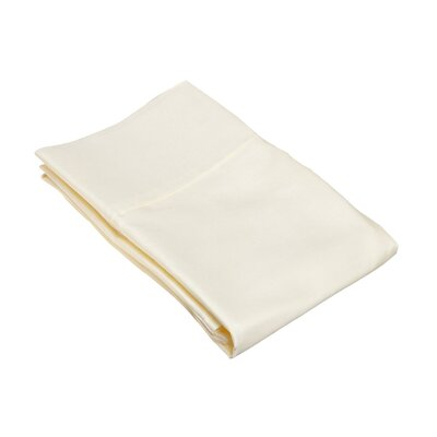 530 Thread Count Cotton Solid Pillowcase Size: King, Color: Ivory