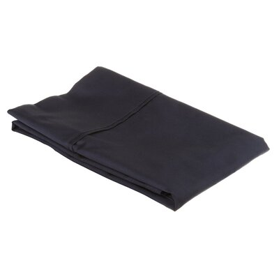 530 Thread Count Cotton Solid Pillowcase Size: Standard, Color: Navy Blue