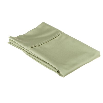 530 Thread Count Cotton Solid Pillowcase Size: Standard, Color: Sage