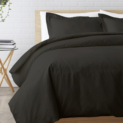 Duvet Set Size: King / California King, Color: Black