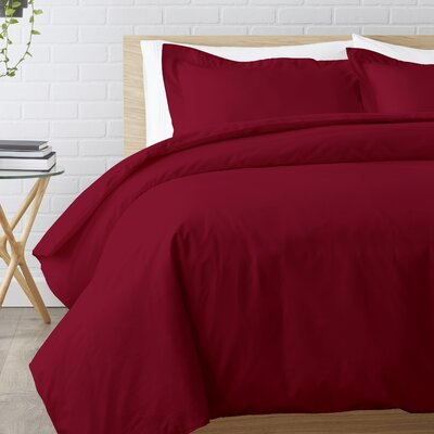 Duvet Set Size: Full / Queen, Color: Burgundy