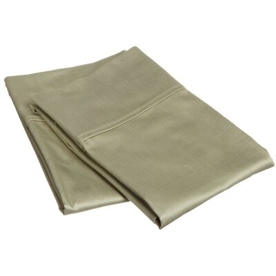 400 Thread Count Egyptian Quality Cotton Solid Pillowcase Size: King, Color: Sage
