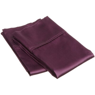400 Thread Count Egyptian Quality Cotton Solid Pillowcase Size: Standard, Color: Plum