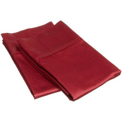 400 Thread Count Egyptian Quality Cotton Solid Pillowcase Size: King, Color: Burgundy