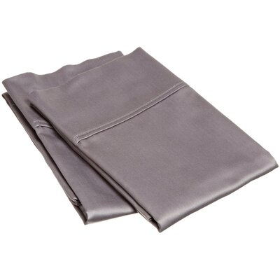 400 Thread Count Egyptian Quality Cotton Solid Pillowcase Size: Standard, Color: Gray