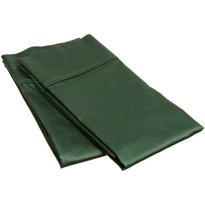 400 Thread Count Egyptian Quality Cotton Solid Pillowcase Size: Standard, Color: Hunter Green