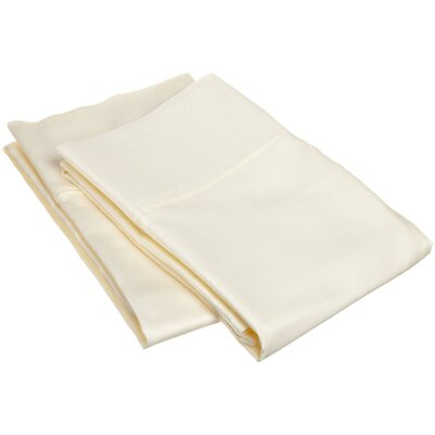 400 Thread Count Egyptian Quality Cotton Solid Pillowcase Size: Standard, Color: Ivory