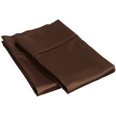 400 Thread Count Egyptian Quality Cotton Solid Pillowcase Size: King, Color: Mocha