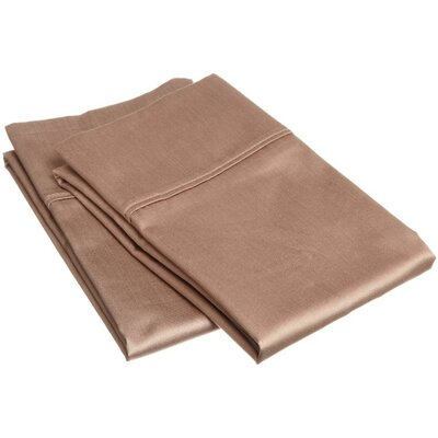 400 Thread Count Egyptian Quality Cotton Solid Pillowcase Size: Standard, Color: Taupe