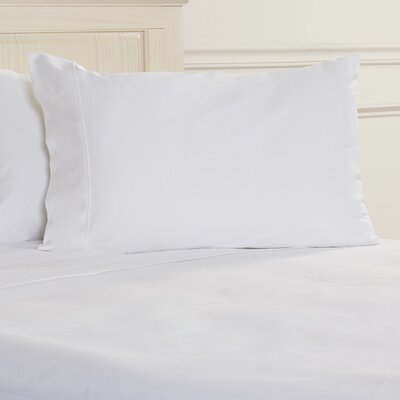 400 Thread Count Egyptian Quality Cotton Solid Pillowcase Size: Standard, Color: White