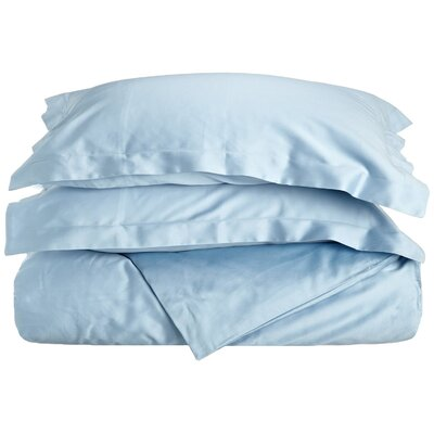 400 Thread Count Egyptian Quality Cotton Solid Duvet Cover Set Size: Full / Queen, Color: Light Blue