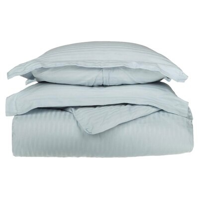 100% Egyptian-Quality Cotton 3 Piece Duvet Set Size: Full/Queen, Color: Light Blue