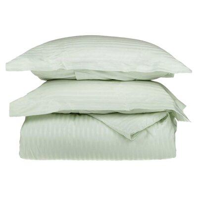 100% Egyptian-Quality Cotton 3 Piece Duvet Set Size: Full/Queen, Color: Mint