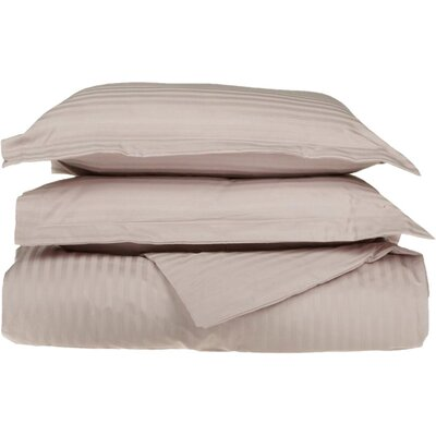 100% Egyptian-Quality Cotton 3 Piece Duvet Set Color: Lavender, Size: King/Cal.King