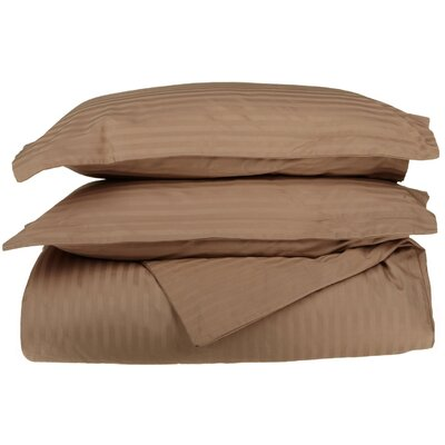 100% Egyptian-Quality Cotton 3 Piece Duvet Set Color: Taupe, Size: King/Cal.King